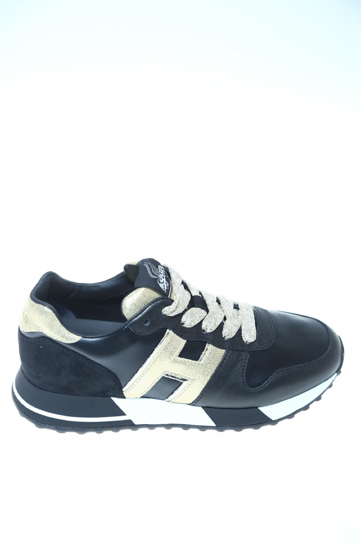 Sneaker Nero oro Pelle HOGAN - Sneakers