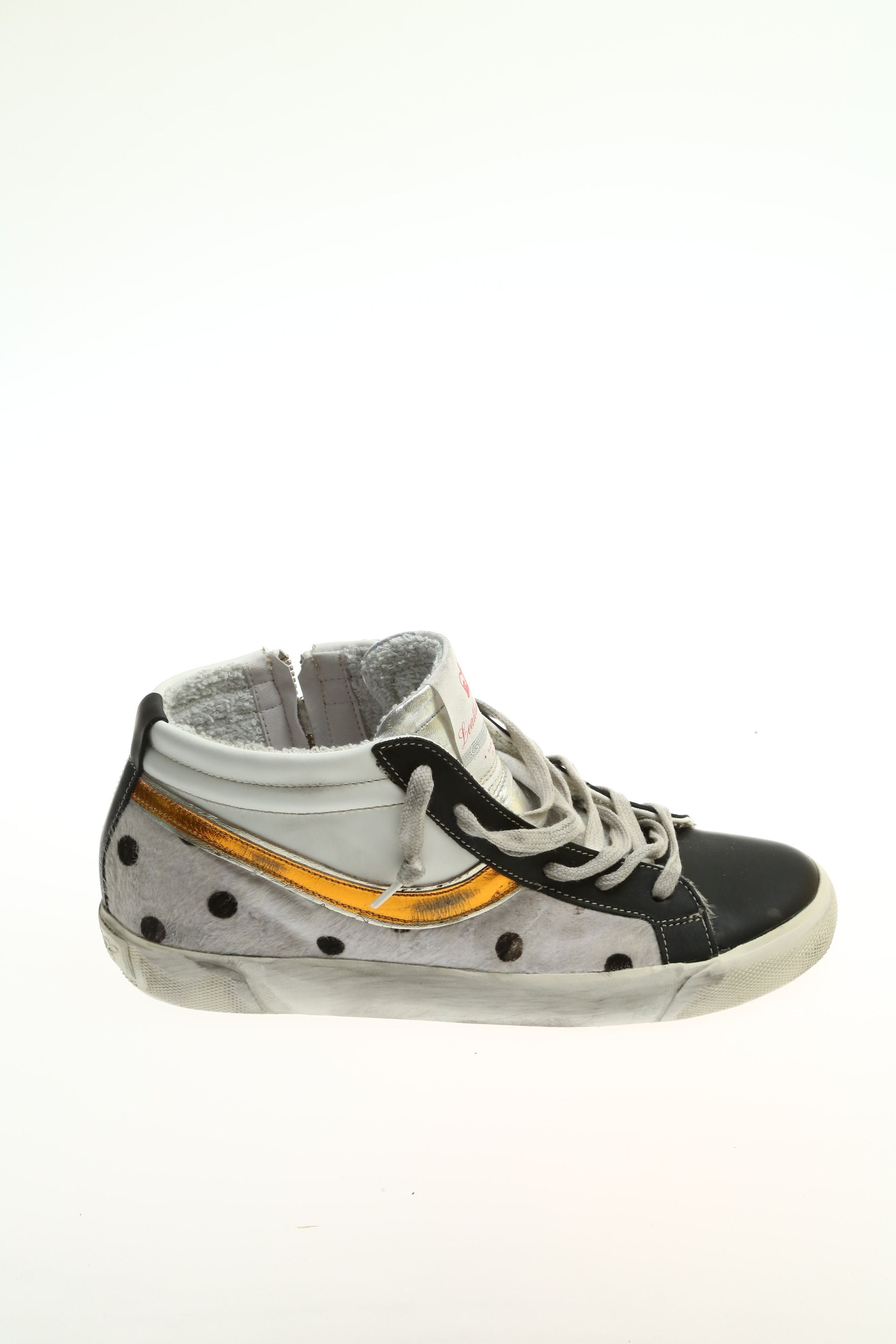 Sneaker Bianco e nero Gomma LEATHER CROWN - Sneakers d417aae49b0