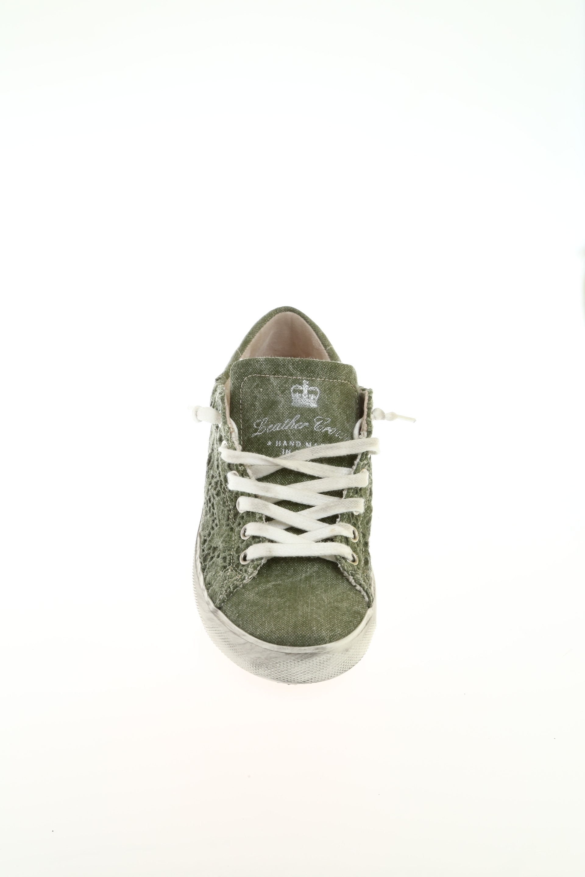 Sneaker Verde Militare Tessuto LEATHER CROWN - Sneakers 194cd96d166