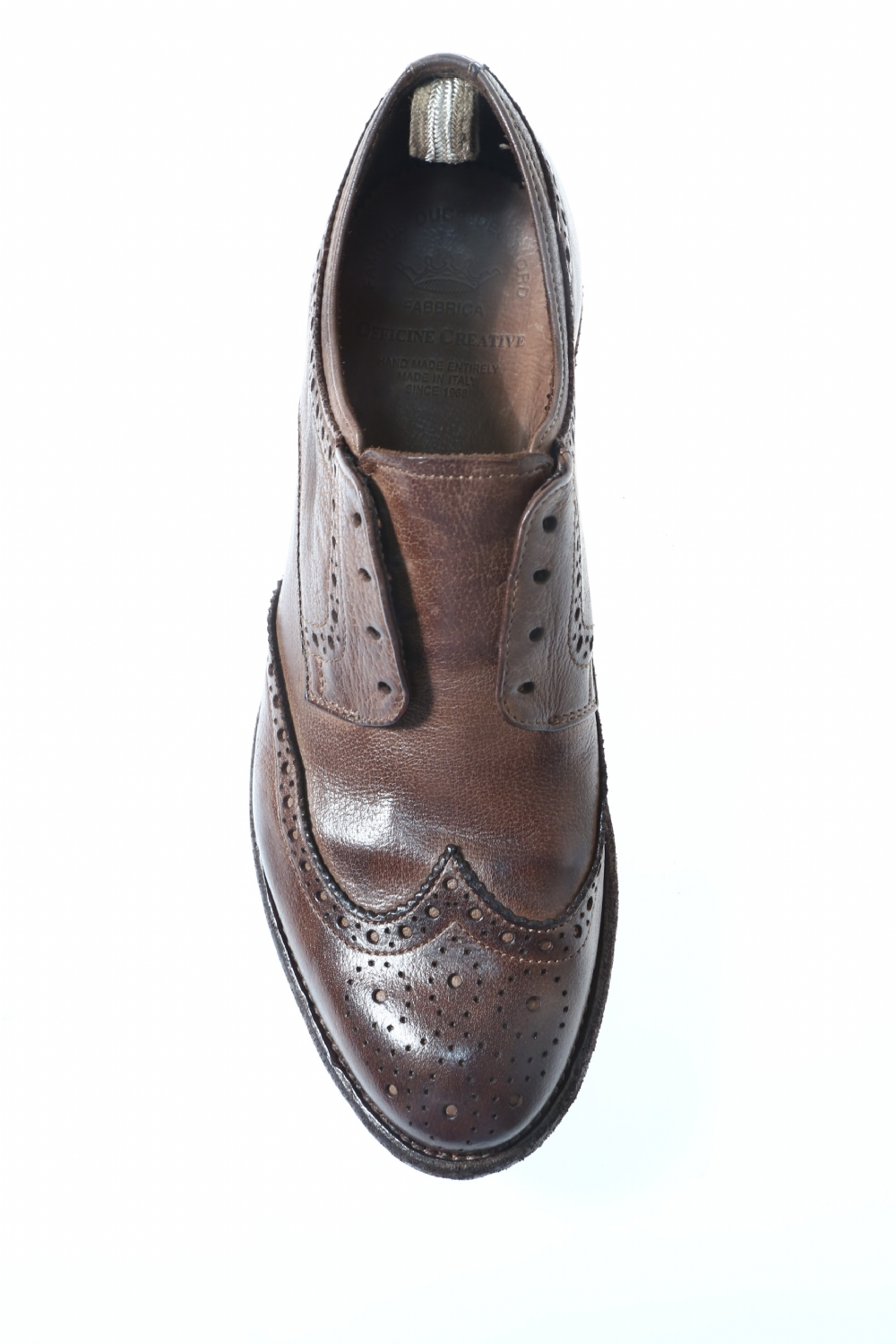 Leather Brown laced OFFICINE CREATIVE