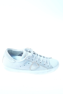 Sneakers Argento Pelle - PHILIPPE MODEL