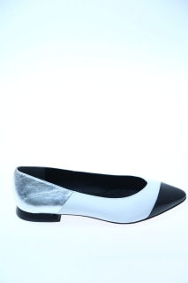 Ballerine Bianco argento Pelle - WHAT FOR