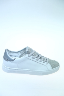 Sneakers Bianco argento Pelle - CRIME
