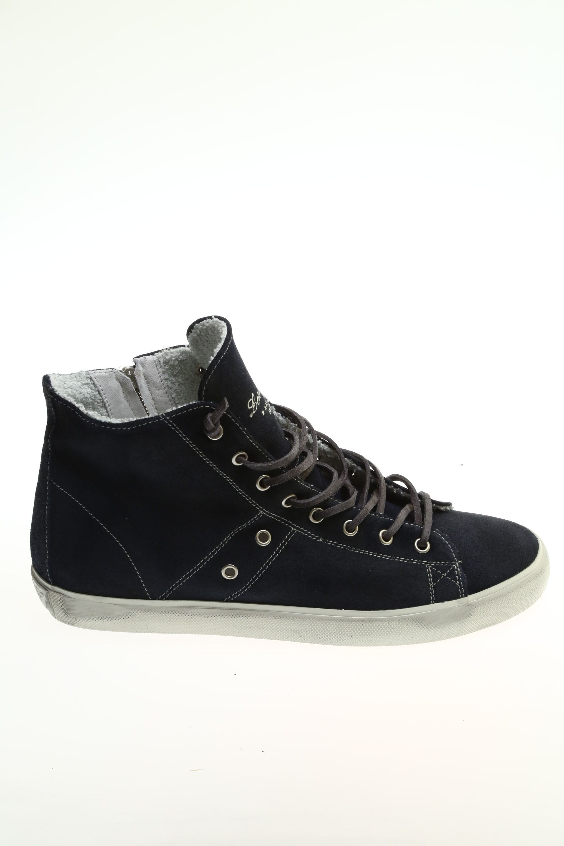 Sneaker Navy Camoscio LEATHER CROWN - Sneakers cc36b941d0b