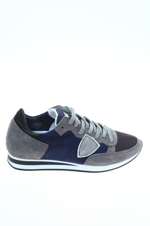 de6b4b8913 Sneaker Blu Grigio Camoscio PHILIPPE MODEL - Sneakers