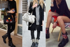 Bikers da donna in saldo: gli outfit per gli iconici boots rock-chic